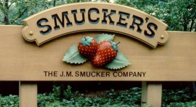 JM Smucker Adds 5% After Q1 Earnings