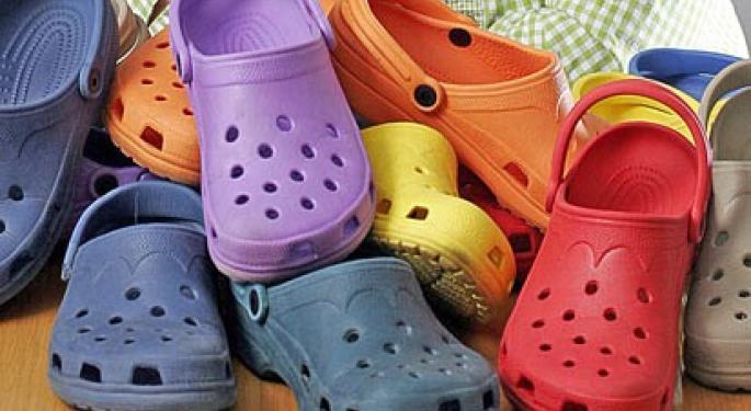 Crocs Beats on EPS, Misses on Revenue; Forecasts Q3 EPS 42-44 Cents