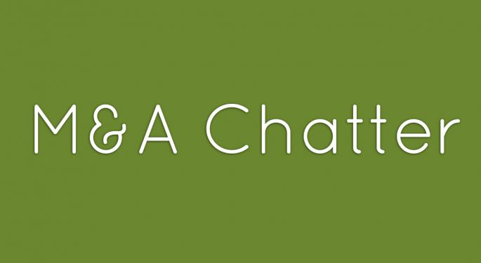 Benzinga's M&A Chatter for Thursday October 3, 2013