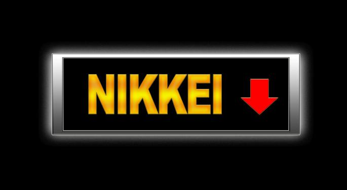 Nikkei Plunges Five Percent Thursday