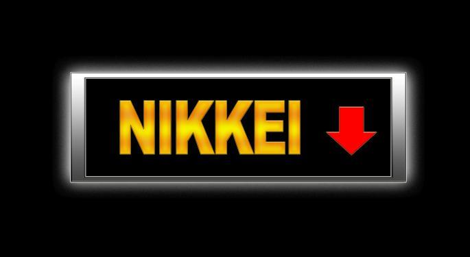 Japan's Nikkei Index Drops Overnight, Nears Bear Market Territory
