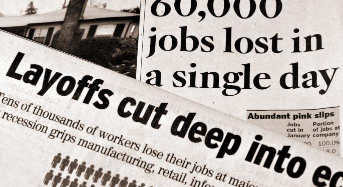 Job Cuts Higher in October; Pharmaceutical & Financial Sectors Took Biggest Hits