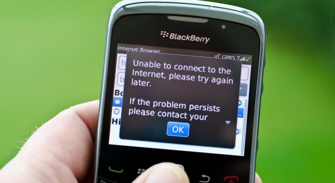 UPDATE: Blackberry Shares Plunge On Huge Earnings Miss