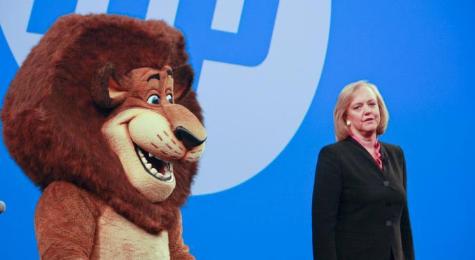 Hewlett-Packard Plunges on Lower Outlook