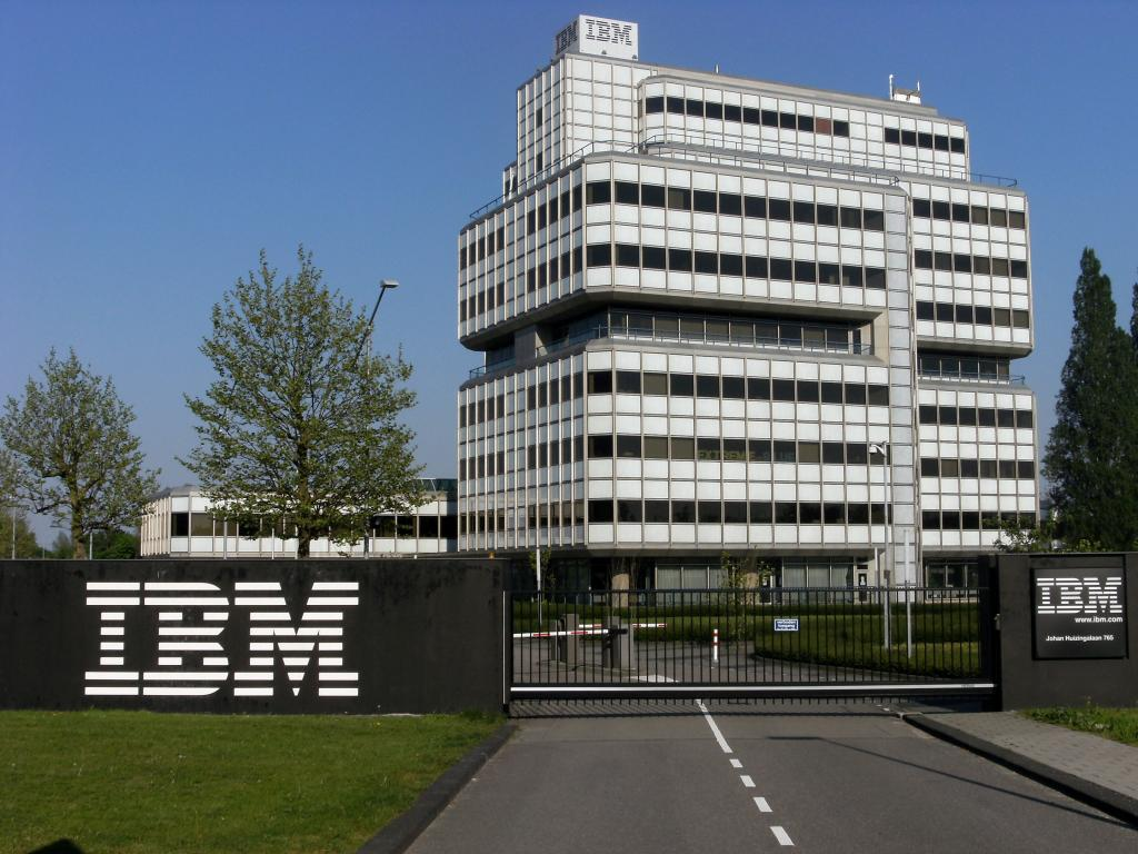 IBM posts smallest drop in quarterly revenue in over four years