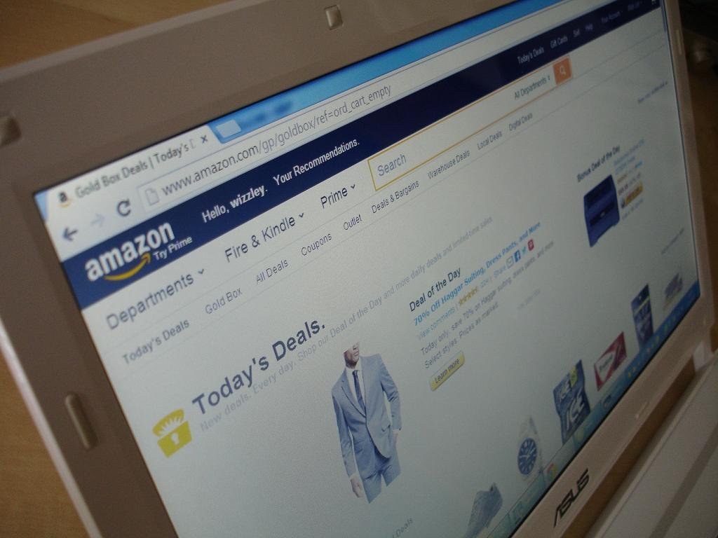 Amazon profit jumps while shares slip