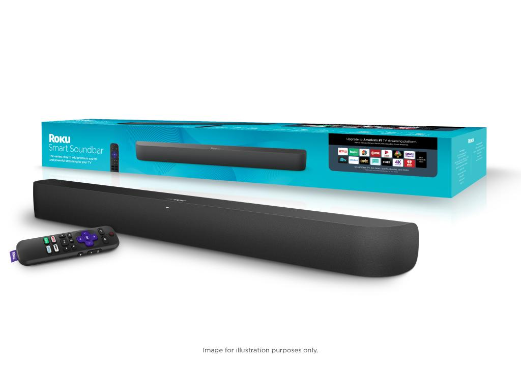 The Roku Smart Soundbar comes with a 4K Roku player built