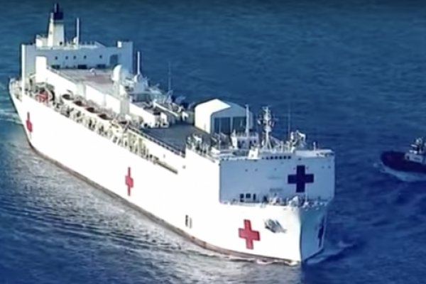 Speeding Train Driver Tries But Fails To Wreck US Navy Hospital Ship Mercy In LA