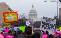 By Mark Dixon from Pittsburgh, PA - Trump-WomensMarch_2017-top-1060131, CC BY 2.
