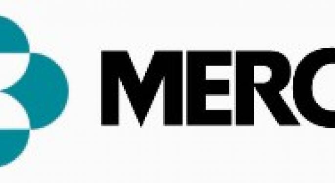 Merck leads drug stocks up