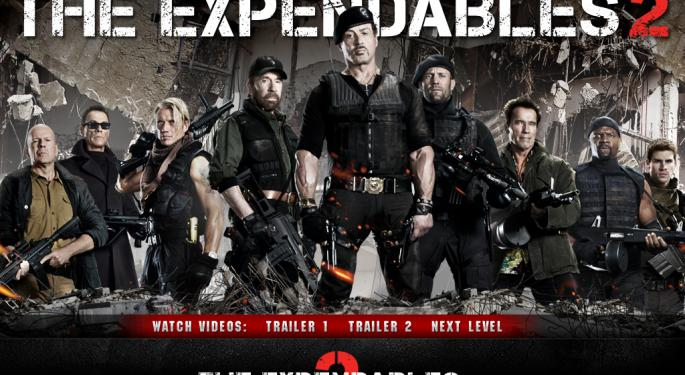 Lions Gate's Expendables 2 Wins Weekend Box Office