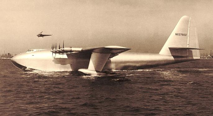 This Day In Market History: Howard Hughes Flies Government-Commissioned Spruce Goose