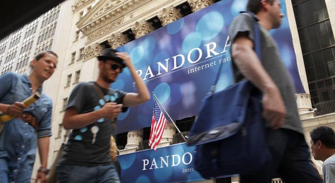 Pandora Falls After In-Line Q3 Results
