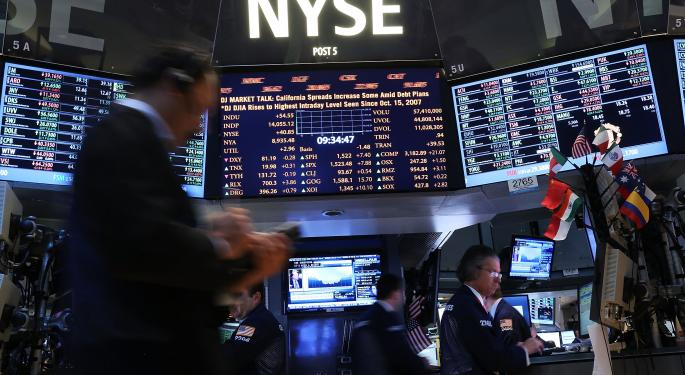 Mid-Morning Market Update: Markets Slip; Monsanto Reports Wider Loss
