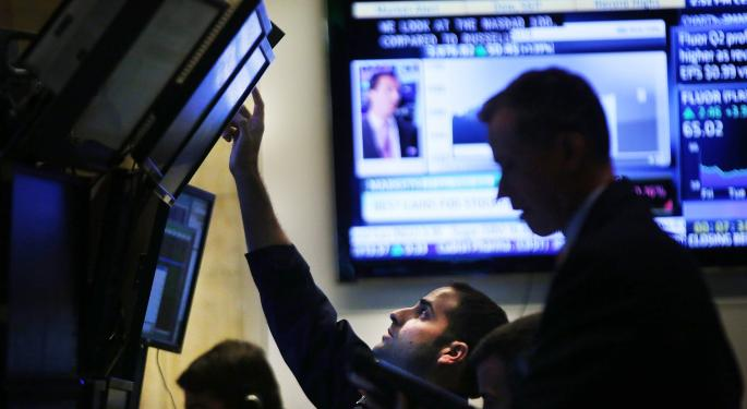 Mid-Day Market Update: US Stocks Slide; Alcoa Shares Surge On Upbeat Results