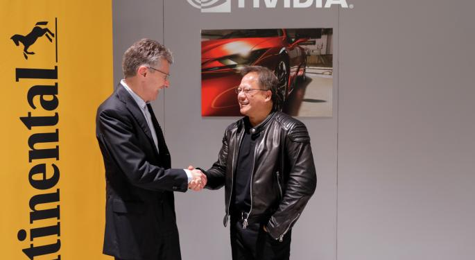 Nvidia Partners With Continental On AI Self-Driving Cars