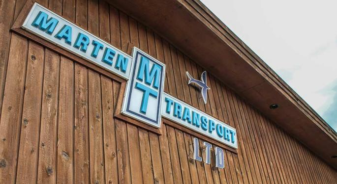 Marten Transport Has Limited Downside, Fair Valuation, Stifel Says In Upgrade