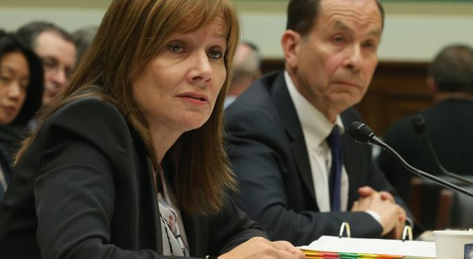 General Motors CEO Mary Barra Steps Up To Congress Once Again