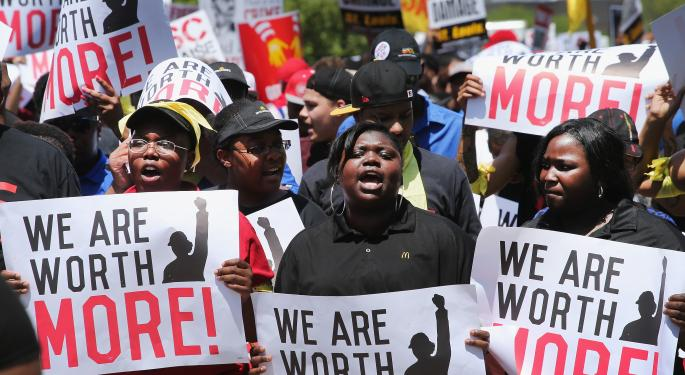 Liveable Wage Protesters Storm McDonald's Annual Shareholder Meeting