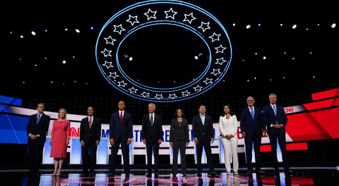 'Go Easy On Me, Kid': Biden, Harris, Democratic Underdogs Scrap In Detroit