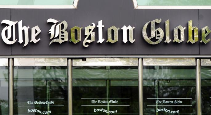 The New York Times Sells The Boston Globe for $70 Million NYT