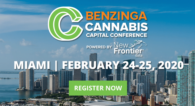 30 Top Cannabis Executives, Insiders, and Experts Set To Appear At The 2020 Benzinga Cannabis Capital Conference In Miami