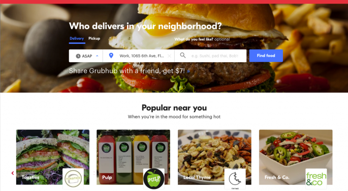 The Sell-Side Upgrade Lifting GrubHub Shares Tuesday