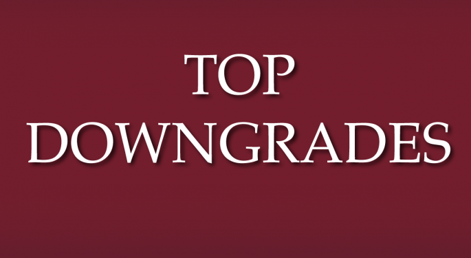 Benzinga's Top Downgrades