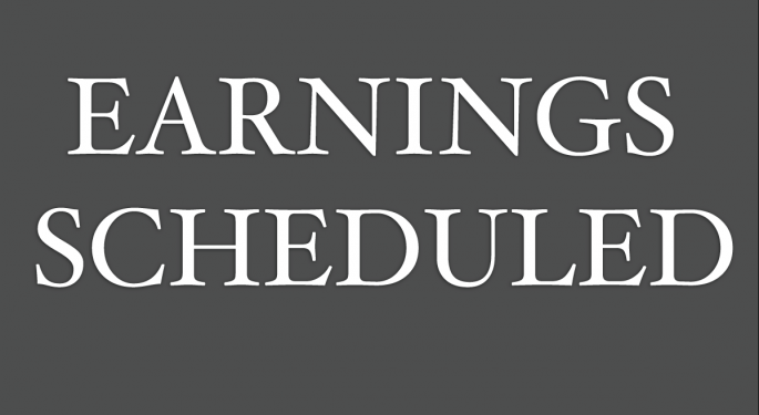 Earnings Scheduled For November 9, 2016
