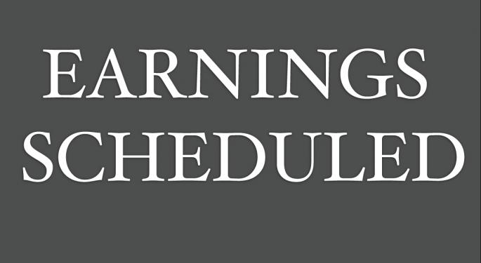 Earnings Scheduled For November 11, 2016