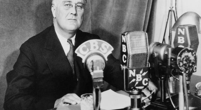 This Day In Market History: FDR's First Fireside Chat