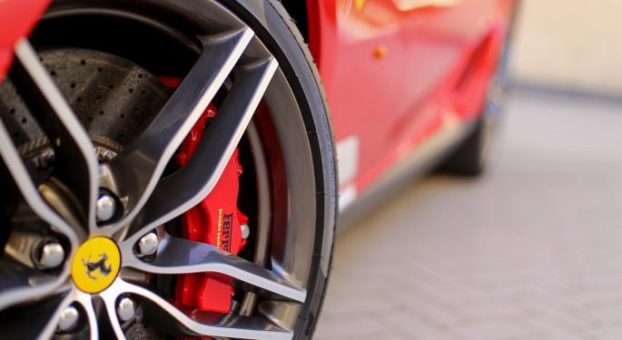 Ferrari Races Higher After Upgrade