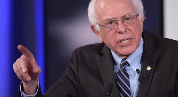 Bernie Sanders: 'The Business Model Of Wall Street Is Fraud,' 56% Of Readers Disagree