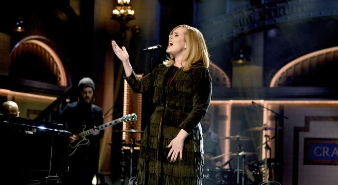 Is Adele Giving Pandora's Stock A Boost? Maybe, But A Major Copyright Overhang May Have Just Been Removed