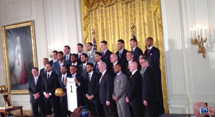 President Obama Hosts NBA Champion Spurs, Critics Grumble Over Spurned Paris March