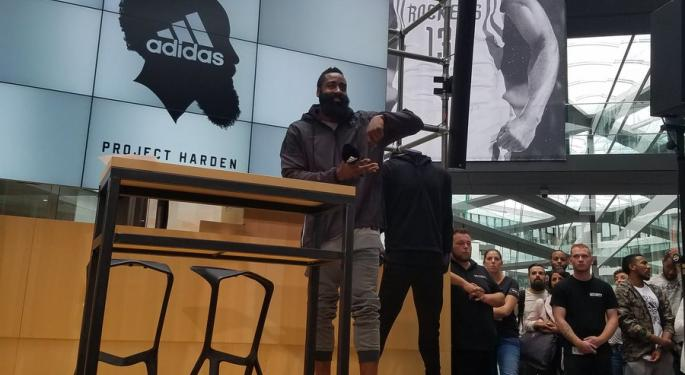 James Harden's Shoe Gets The Steph Curry Treatment