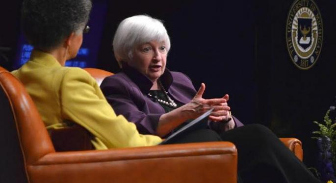 Yellen Puts A Crimp In Financial Rally