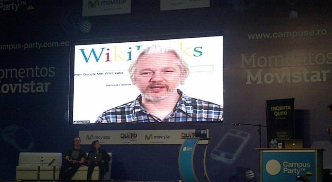 Hoisted On His Own Petard: Group Hacks Julian Assange's WikiLeaks