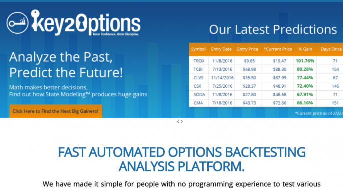 Key2Options: Allowing Users To Create And Analyze Favorable Trade Scenarios