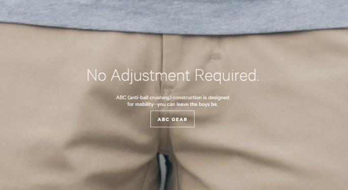 Lululemon's Homepage Touts Anti-Ball Crushing Men's Pants