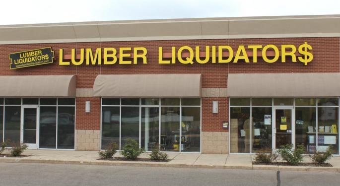 Lumber Liquidators Down Big; CDC Cancer Risk Report Weighing On Investors