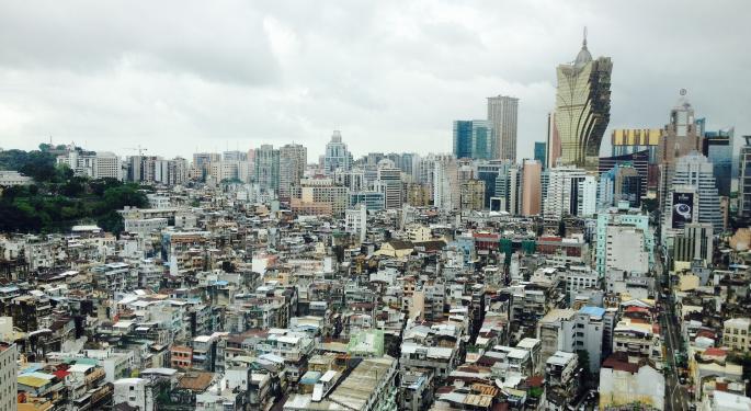 Macau Revenue Down 21.2% In December
