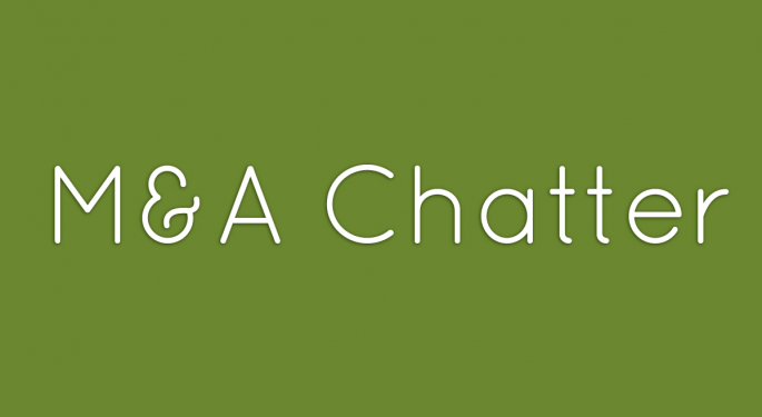 Benzinga's M&A Chatter for  Monday July 15, 2013