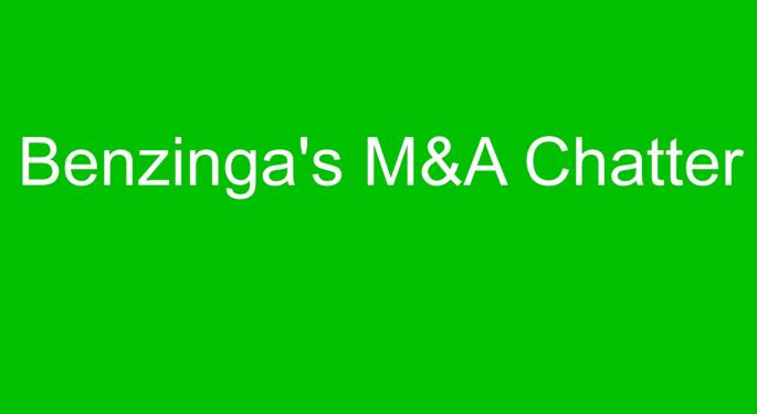 Benzinga's M&A Chatter for Tuesday January 13, 2015