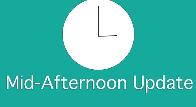 Mid-Afternoon Market Update: Supervalu Boosts, Mattress Firm Remains Down