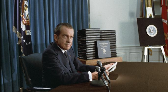 This Day In Market History: Richard Nixon Announces Resignation