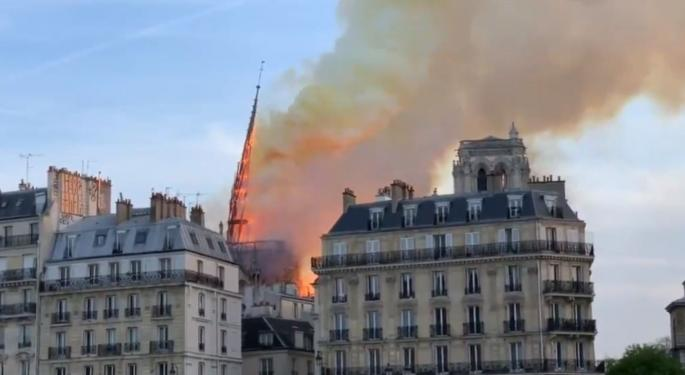 Paris Landmark Notre-Dame Cathedral Suffers Devastating Fire
