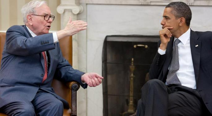 Warren Buffett Pushing More Cash To Equities; 'Big 5' Stocks Still At The Top