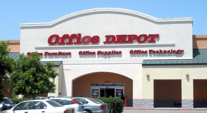 UBS Stays Bearish On Office Depot After Q4 Print