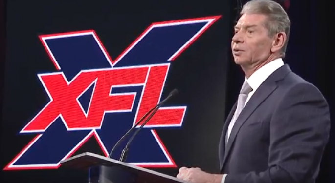 Vince McMahon Unveils 8 Cities Hosting XFL Teams In 2020